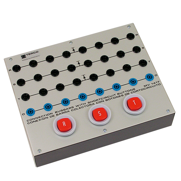 MV 1417 Terminal Board with Short-Circuit Buttons